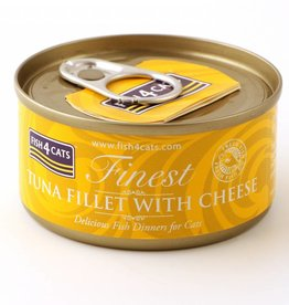 Fish4Cats Finest Wet Tuna Fillet with Cheese Cat Food, 70g