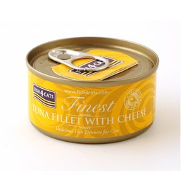 Fish4Cats Finest Tuna Fillet with Cheese Wet Cat Food, 70g