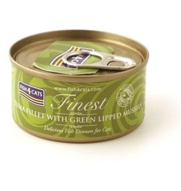 Fish4Cats Finest Tuna Fillet with Green Lipped Mussel Wet Cat Food, 70g