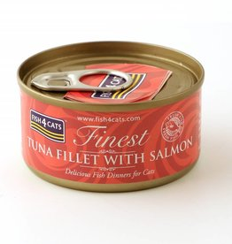Fish4Cats Finest Wet Tuna Fillet with Salmon Cat Food, 70g