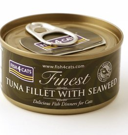 Fish4Cats Finest Tuna Fillet with Seaweed Wet Cat Food, 70g