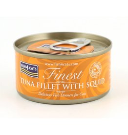 Fish4Cats Finest Tuna Fillet with Squid Wet Cat Food, 70g