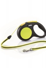 Flexi Extending Dog Lead, Neon Reflect, Cord