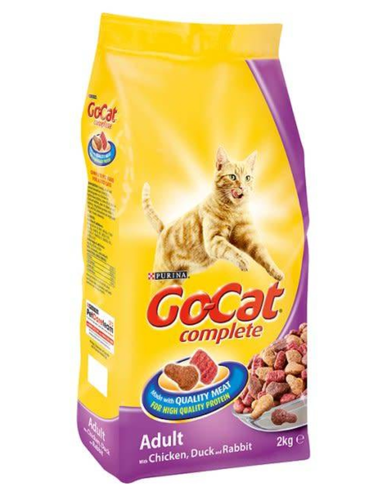 Go-Cat Complete Adult Cat Dry Food, Chicken & Duck