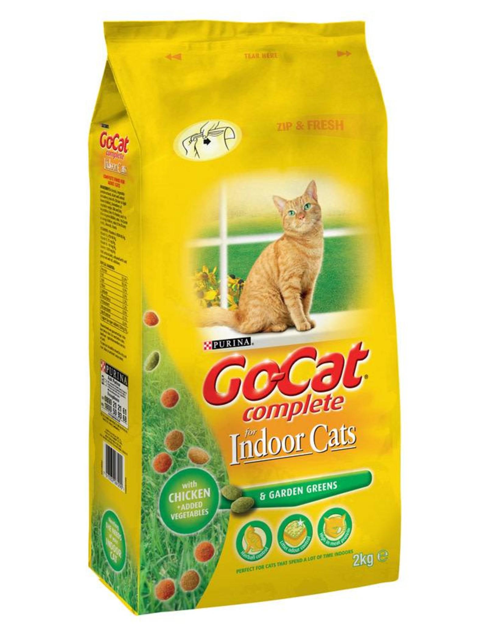 Go-Cat Complete Indoor Dry Cat Food, Chicken with Garden Greens, 2kg