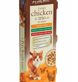 HiLife Its Only Natural Cat Food Can Luxury Chicken Trio in Sauce 70g, 3 pack