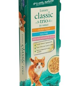 HiLife Its Only Natural Cat Food Can Luxury Classic Trio in Sauce 70g, 3 pack