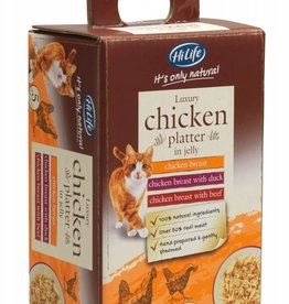 HiLife Its Only Natural Cat Food Pouch Luxury Chicken in Jelly 50g, 5 pack