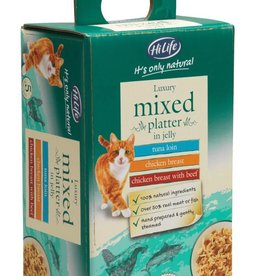 HiLife Its Only Natural Cat Food Pouch Luxury Mixed Platter Jelly 50g, 5 pack