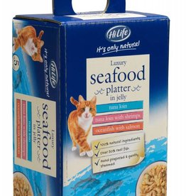 HiLife Its Only Natural Cat Food Pouch Luxury Seafood in Jelly 50g, 5 pack