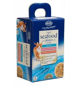 HiLife It's Only Natural Luxury Seafood in Jelly Wet Cat Food Pouch, 50g, 5 pack