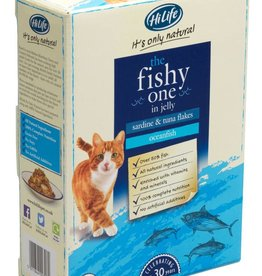 HiLife Its Only Natural Cat Food Pouch The Fishy One In Jelly 70g, 8 pack