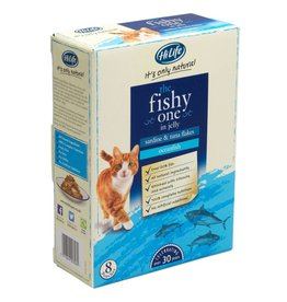 HiLife It's Only Natural The Fishy One in Jelly Wet Cat Food Pouch, 70g, 8 pack