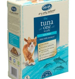 HiLife Its Only Natural Cat Food Pouch The Tuna One In Jelly 70g, 8 pack