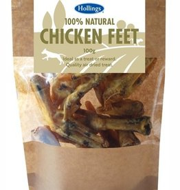 Hollings 100% Natural Chicken Feet Dog Treat 100g