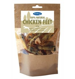 Hollings 100% Natural Chicken Feet Dog Treat, 100g