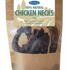 Hollings 100% Natural Chicken Necks Dog Treat 120g