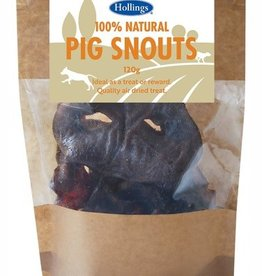 Hollings 100% Natural Pig Snouts Dog Treat, 120g