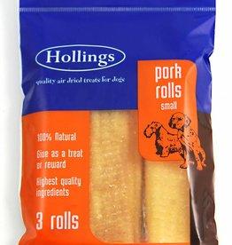 Hollings Pork Rolls Dog Treat, Small, 3 rolls
