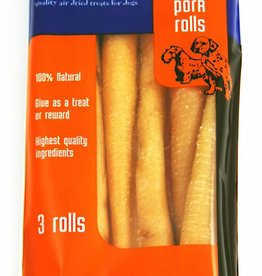 Hollings Pork Rolls Dog Treat, Large, 3 pack