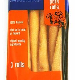 Hollings Pork Rolls Large Dog Treat, 3 pack