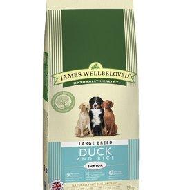 James Wellbeloved Junior Large Breed Dog Dry Food, Duck & Rice