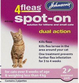 Johnsons Veterinary 4fleas Dual Action Flea & Tick Spot-on for Cat & Kittens