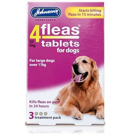 Johnsons Veterinary 4Fleas Tablets for Dogs Over 11 kg, 3 treatment pack