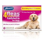 Johnsons Veterinary 4Fleas Tablets for Dogs Over 11 kg, 6 treatment pack