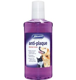 Johnsons Anti Plaque Dental Rinse for dogs & cats 250ml