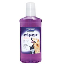 Johnsons Veterinary Anti Plaque Dental Rinse for dogs & cats, 250ml