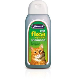 Johnsons Veterinary Cat Flea Cleansing Shampoo, 200ml