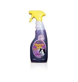 Johnsons Veterinary Clean n Safe Cat Litter Tray Spray Disinfectant, 500ml