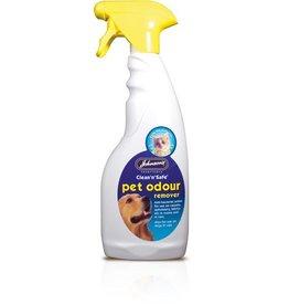 Johnsons Veterinary Clean n Safe Pet Odour Remover Spray, 500ml