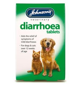 Johnsons Veterinary Diarrhoea Tablets for Cats & Dogs, 12 Tablets