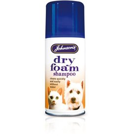 Johnsons Veterinary Dry- Foam Shampoo Spray for Cats & Dogs, cleans without water, 150ml