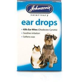 Johnsons Ear Drops for Cats & Dogs, Kills ear mites 15ml