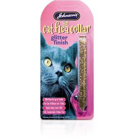 Johnsons Felt Glitter Cat Flea Collars (Mixed Colours)