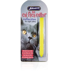 Johnsons Felt Reflective Cat Flea Collars (Mixed Colours)