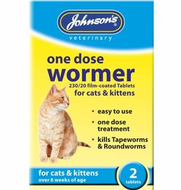 Johnsons Veterinary One Dose Easy Wormer for Cats & Kittens