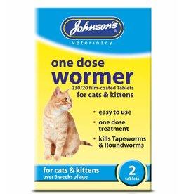 Johnsons Veterinary One Dose Easy Wormer for Cats & Kittens