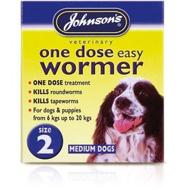Johnsons One Dose Easy Wormer for Dogs