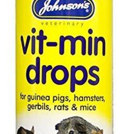 Johnsons Veterinary Vit-Min Drops for guinea pigs, hamsters, rats, gerbils & mice 100ml