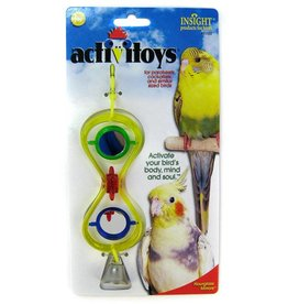 JW Hourglass Mirrors Cage Bird Toy