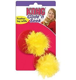 KONG Cat Glide n Seek Replacement Feather Toy pack of 2