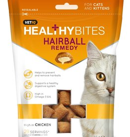 (Mark & Chappell) VetIQ Cat Treats Healthy Bites Hairball Remedy 65g