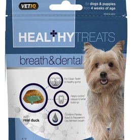 (Mark & Chappell) VetIQ Dog Treats Healthy Treats Breath & Dental Care 70g