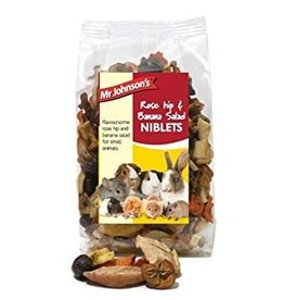 Mr Johnson's Rose Hip & Banana Salad Small Animal Treats, 125g
