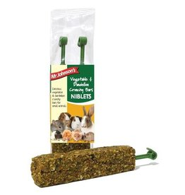 Mr Johnson's Vegetable & Dandelion Crunchy Bar Niblets Small Animal Treats, 2 Pack