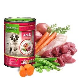 natures menu Adult Dog Wet Food Can, Beef & Chicken, 400g